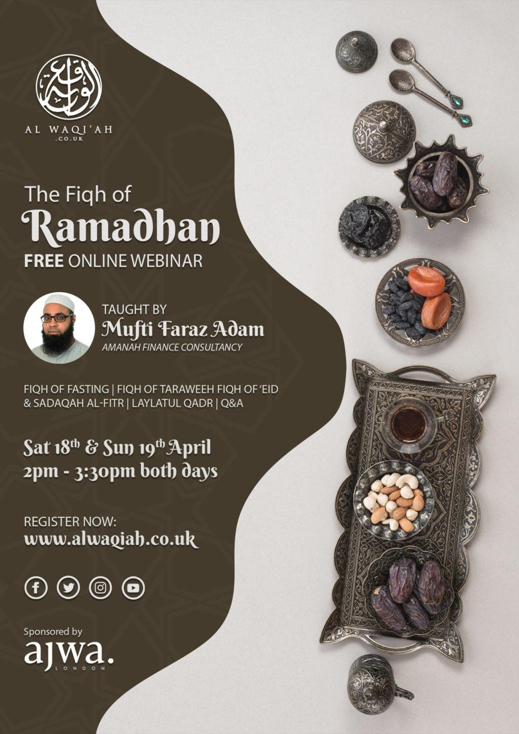 THE FIQH OF RAMADHAN | Mufti Faraz Adam